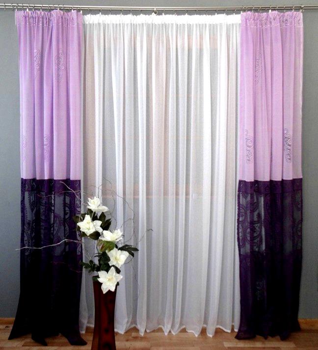 firany i zas�ony do sypialni salonu 500x250 fiolet