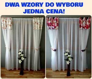 Komplet Firan I Zasłon Z Woalu 240x500 Do Sypialni Salonu Balkon