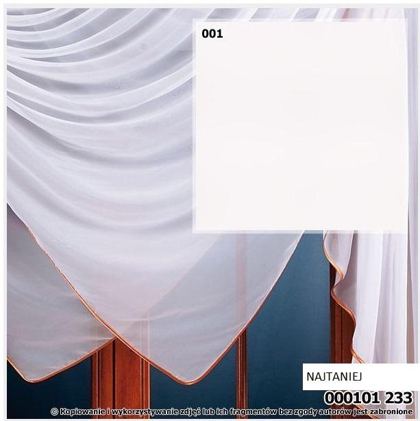Woal Biały Gładki Wys 150 Cm