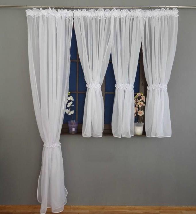 Firanka Biała Woalowa Na Okno Balkonowe 250x600 Balkon