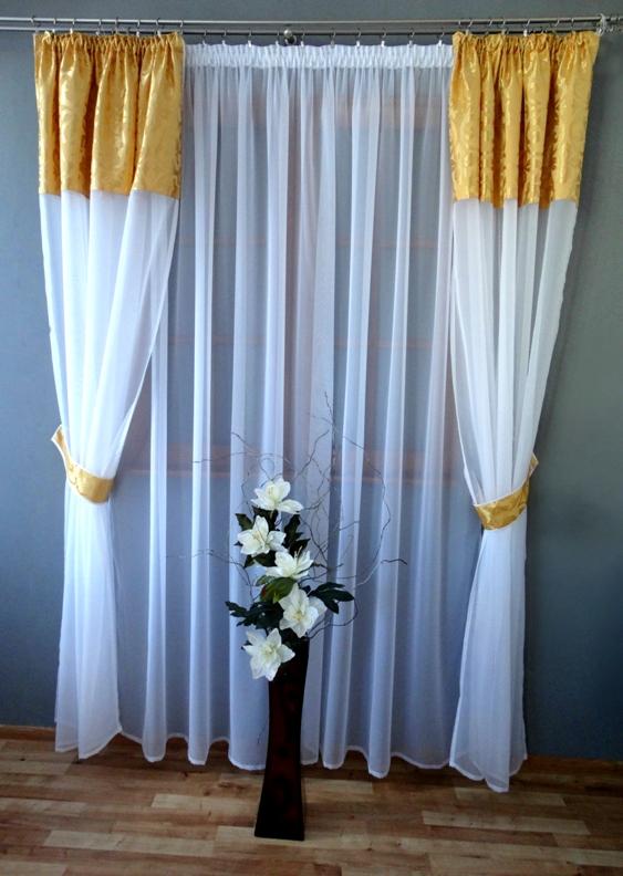 Gotowy Komplet Firan I Zasłon Z Woalu 245x400 Balkon